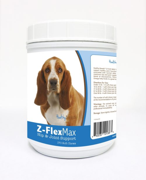 Healthy Breeds 840235101383 Basset Hound Z-Flex Max Hip & Joint Soft Chews - 170 Count