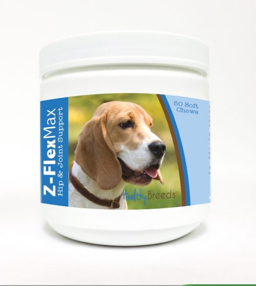 Healthy Breeds 840235102113 Beagle Z-Flex Max Hip & Joint Soft Chews - 50 Count