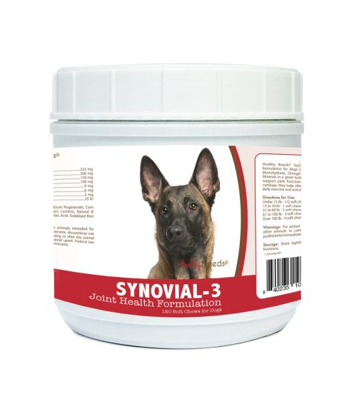 Healthy Breeds 840235102373 Belgian Malinois Synovial-3 Joint Health Formulation - 120 Count