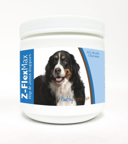 Healthy Breeds 840235102502 Bernese Mountain Dog Z-Flex Max Hip & Joint Soft Chews - 50 Count