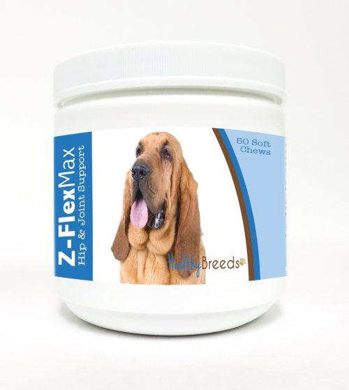 Healthy Breeds 840235102786 Bloodhound Z-Flex Max Hip & Joint Soft Chews - 50 Count