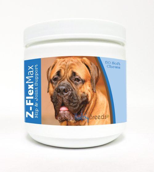 Healthy Breeds 840235102946 Bullmastiff Z-Flex Max Hip & Joint Soft Chews - 50 Count