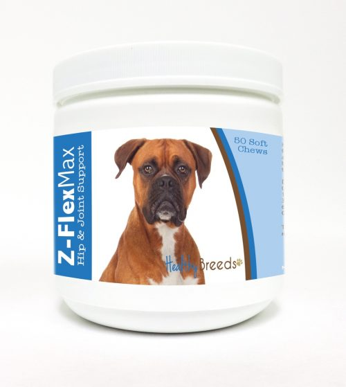 Healthy Breeds 840235103110 Boxer Z-Flex Max Hip & Joint Soft Chews - 50 Count