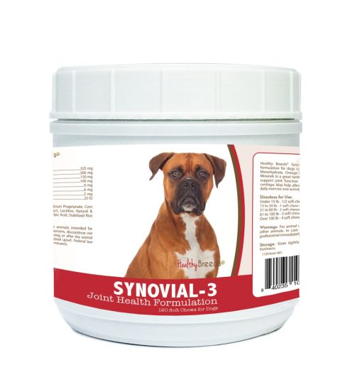 Healthy Breeds 840235103141 Boxer Synovial-3 Joint Health Formulation - 120 Count