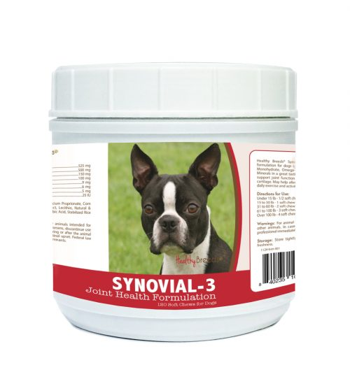Healthy Breeds 840235103738 Boston Terrier Synovial-3 Joint Health Formulation - 120 Count