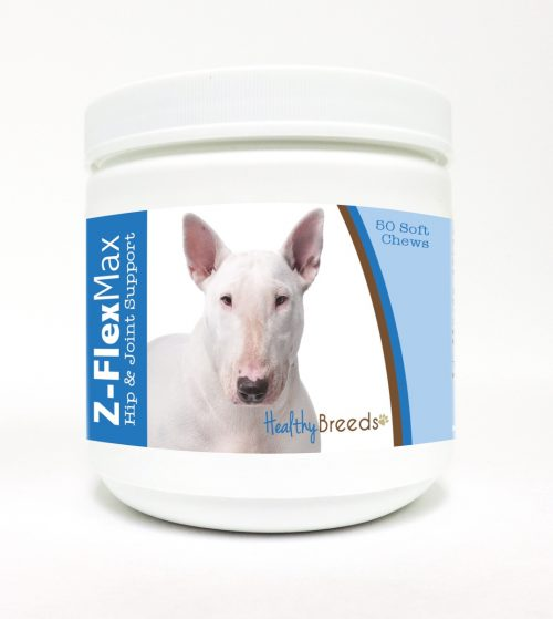 Healthy Breeds 840235103868 Bull Terrier Z-Flex Max Hip & Joint Soft Chews - 50 Count