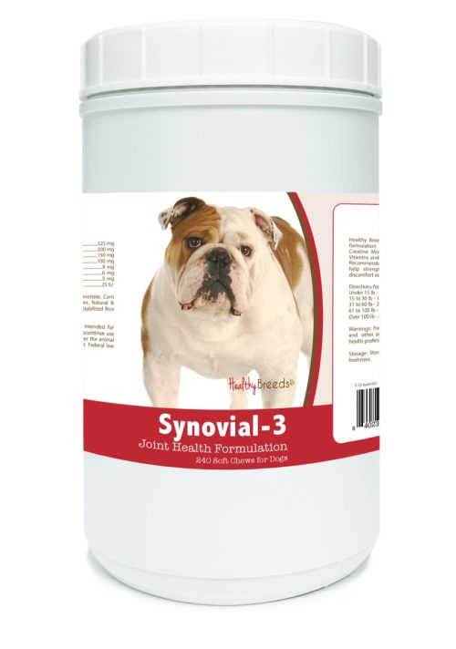 Healthy Breeds 840235104063 Bulldog Synovial-3 Joint Health Formulation 240 Count