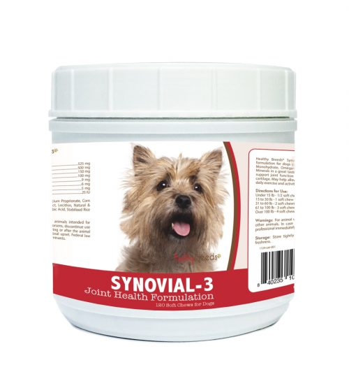 Healthy Breeds 840235104186 Cairn Terrier Synovial-3 Joint Health Formulation 120 Count
