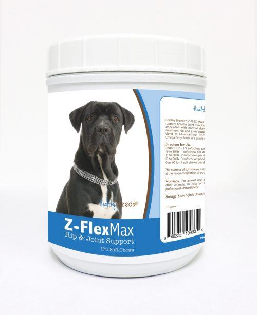 Healthy Breeds 840235104339 Cane Corso Z-Flex Max Hip & Joint Soft Chews 170 Count