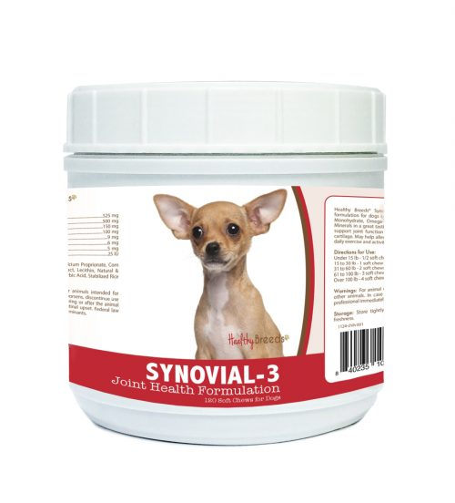 Healthy Breeds 840235104735 Chihuahua Synovial-3 Joint Health Formulation 120 Count