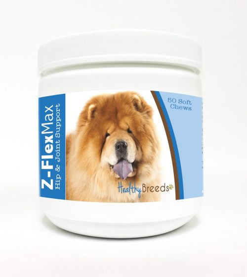 Healthy Breeds 840235104872 Chow Chow Z-Flex Max Hip & Joint Soft Chews 50 Count