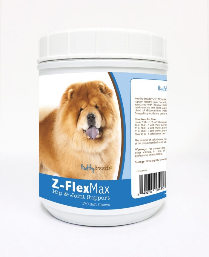 Healthy Breeds 840235104896 Chow Chow Z-Flex Max Hip & Joint Soft Chews 170 Count