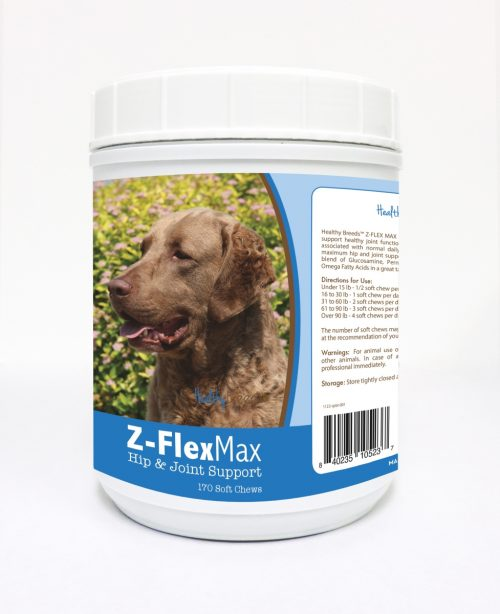 Healthy Breeds 840235105237 Chesapeake Bay Retriever Z-Flex Max Hip & Joint Soft Chews 170 Count