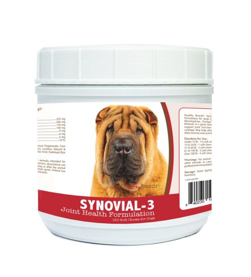 Healthy Breeds 840235105503 Chinese Shar Pei Synovial-3 Joint Health Formulation 120 Count