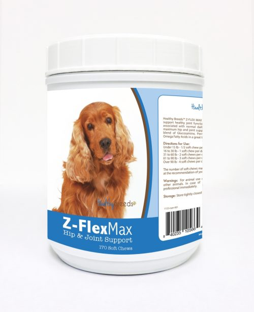 Healthy Breeds 840235105664 Cocker Spaniel Z-Flex Max Hip & Joint Soft Chews 170 Count