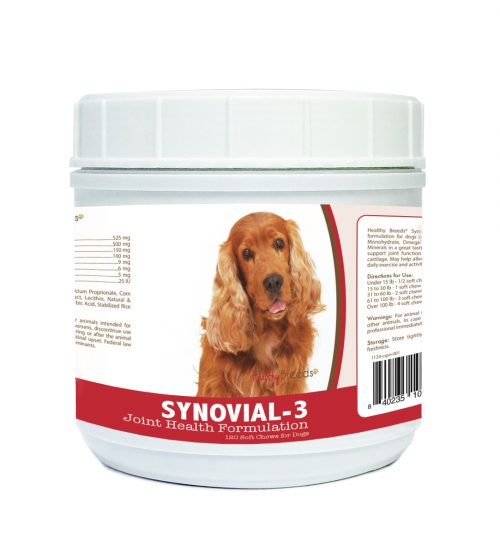 Healthy Breeds 840235105671 Cocker Spaniel Synovial-3 Joint Health Formulation 120 Count