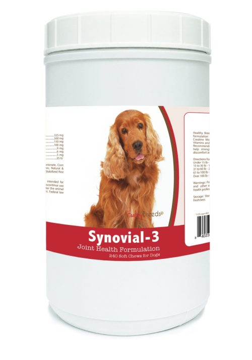 Healthy Breeds 840235105688 Cocker Spaniel Synovial-3 Joint Health Formulation 240 Count