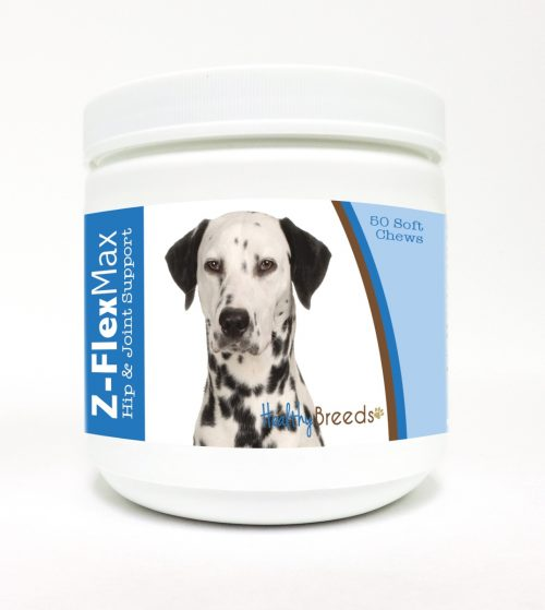Healthy Breeds 840235105947 Dalmatian Z-Flex Max Hip & Joint Soft Chews - 50 count
