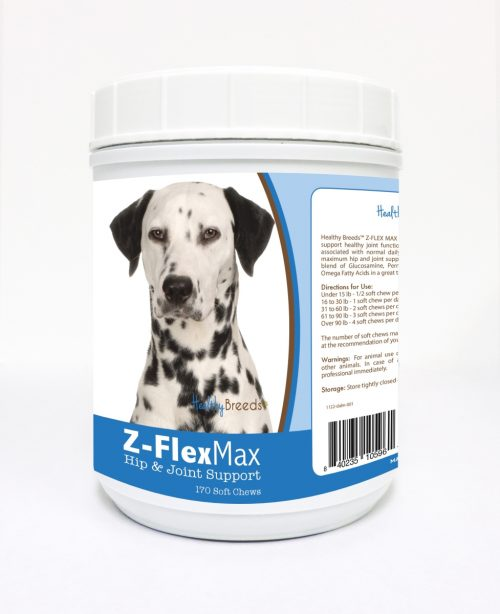 Healthy Breeds 840235105961 Dalmatian Z-Flex Max Hip & Joint Soft Chews - 170 count