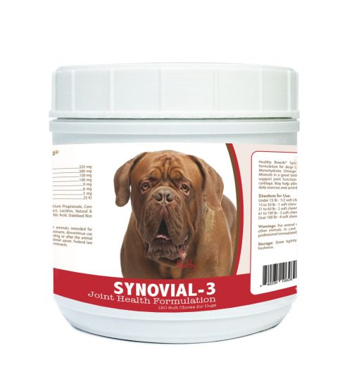 Healthy Breeds 840235106289 Dogue de Bordeaux Synovial-3 Joint Health Formulation - 120 count