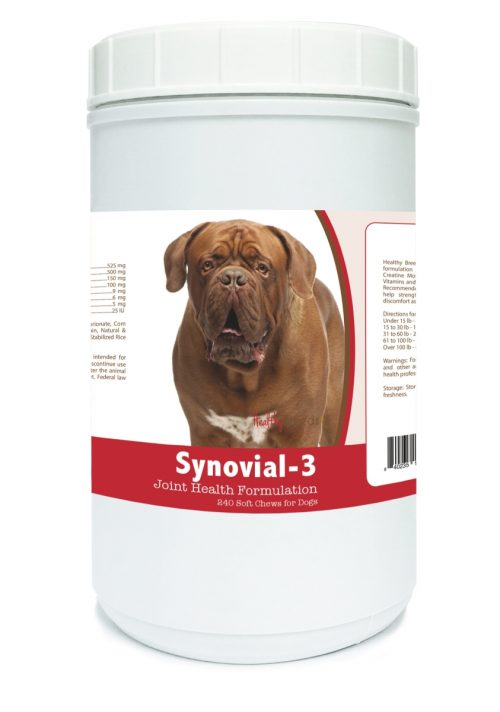 Healthy Breeds 840235106296 Dogue de Bordeaux Synovial-3 Joint Health Formulation - 240 count