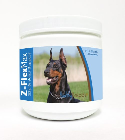 Healthy Breeds 840235106425 Doberman Pinscher Z-Flex Max Hip & Joint Soft Chews - 50 count