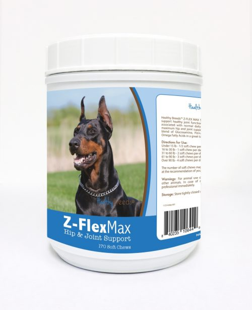 Healthy Breeds 840235106449 Doberman Pinscher Z-Flex Max Hip & Joint Soft Chews - 170 count