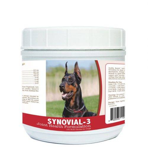 Healthy Breeds 840235106456 Doberman Pinscher Synovial-3 Joint Health Formulation - 120 count