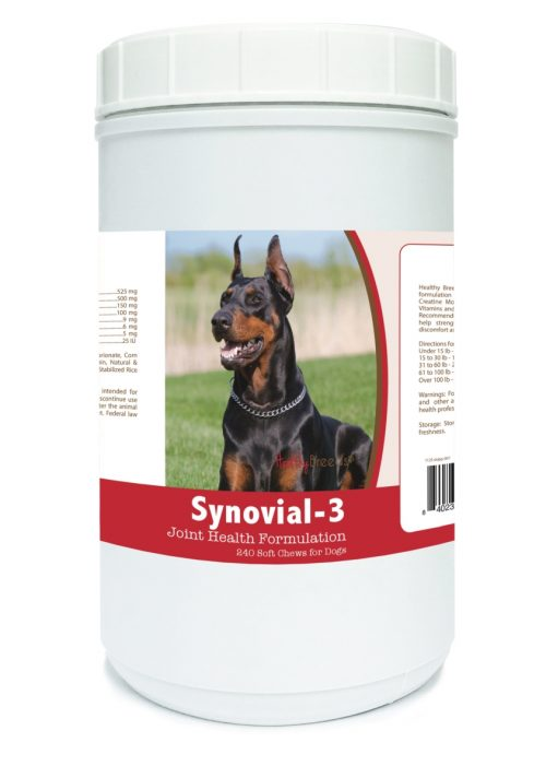 Healthy Breeds 840235106463 Doberman Pinscher Synovial-3 Joint Health Formulation - 240 count