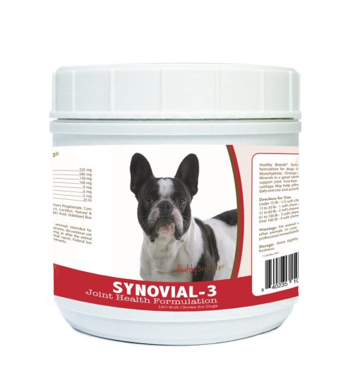 Healthy Breeds 840235107163 French Bulldog Synovial-3 Joint Health Formulation - 120 count