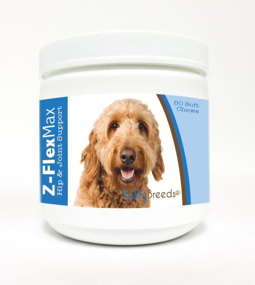 Healthy Breeds 840235107392 Goldendoodle Z-Flex Max Hip & Joint Soft Chews - 50 count