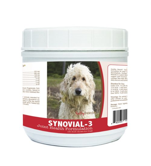 Healthy Breeds 840235107446 Goldendoodle Synovial-3 Joint Health Formulation - 120 count
