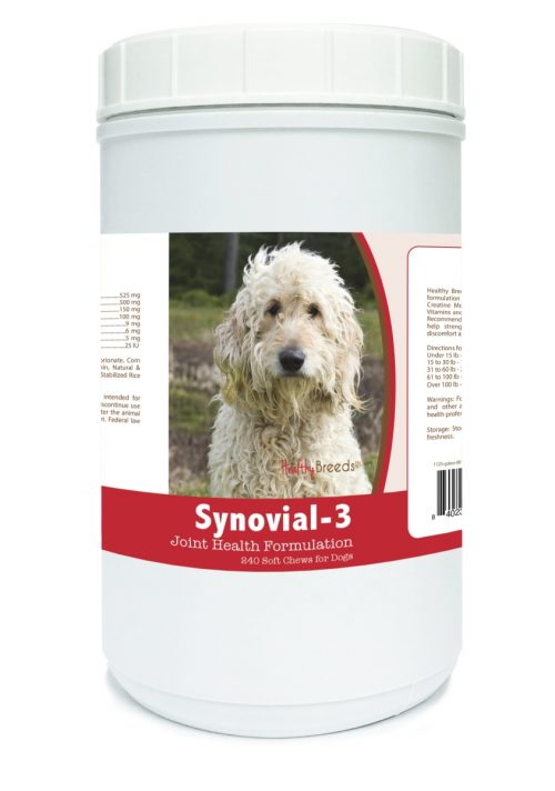 Healthy Breeds 840235107460 Goldendoodle Synovial-3 Joint Health Formulation - 240 count
