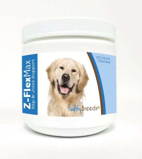 Healthy Breeds 840235107835 Golden Retriever Z-Flex Max Hip & Joint Soft Chews - 50 count