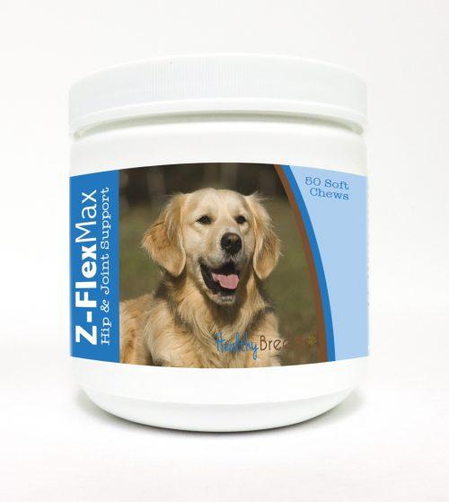 Healthy Breeds 840235107842 Golden Retriever Z-Flex Max Hip & Joint Soft Chews - 50 count