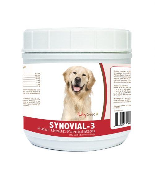 Healthy Breeds 840235107897 Golden Retriever Synovial-3 Joint Health Formulation - 120 count