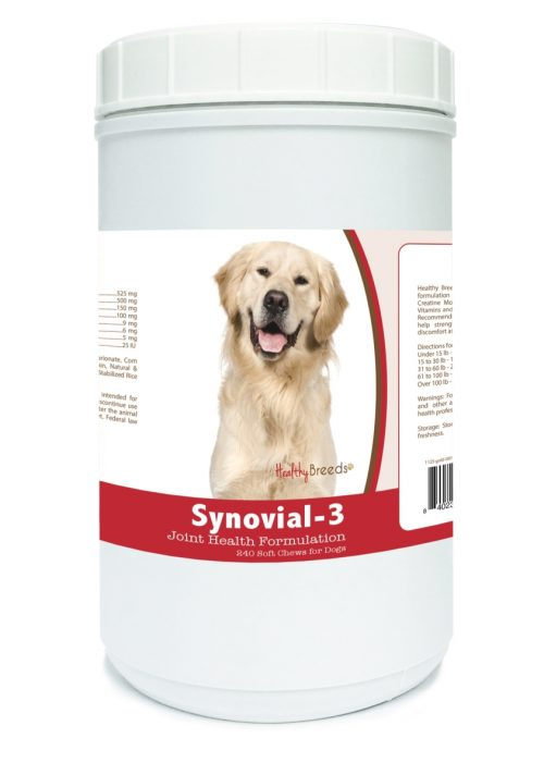 Healthy Breeds 840235107910 Golden Retriever Synovial-3 Joint Health Formulation - 240 count