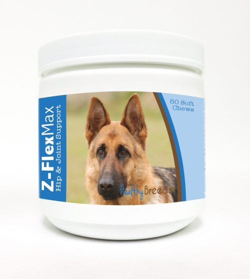 Healthy Breeds 840235108245 German Shepherd Z-Flex Max Hip & Joint Soft Chews - 50 count