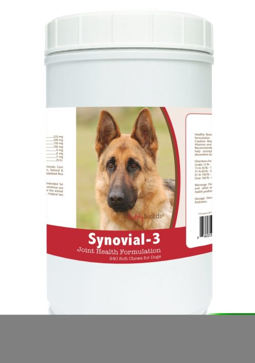 Healthy Breeds 840235108368 German Shepherd Synovial-3 Joint Health Formulation - 240 count