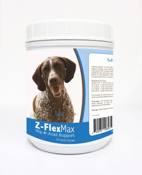 Healthy Breeds 840235108535 German Shorthaired Pointer Z-Flex Max Hip & Joint Soft Chews - 170 Count
