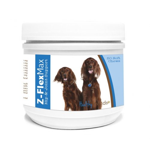 Healthy Breeds 840235109235 Irish Setter Z-Flex Max Hip & Joint Soft Chews - 50 Count