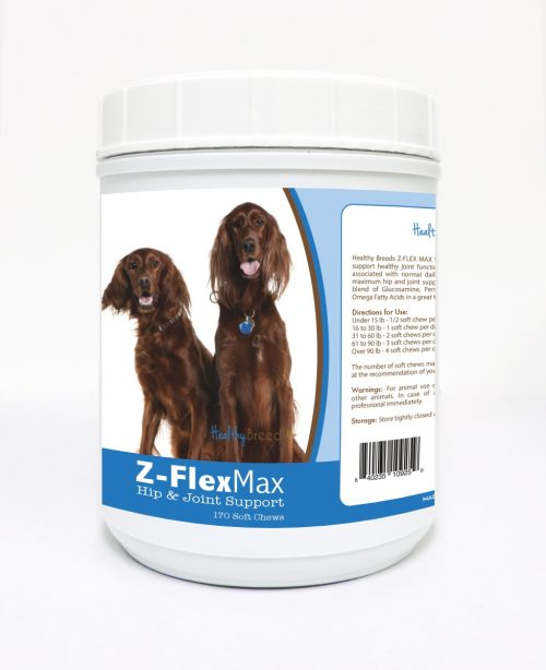 Healthy Breeds 840235109259 Irish Setter Z-Flex Max Hip & Joint Soft Chews - 170 Count
