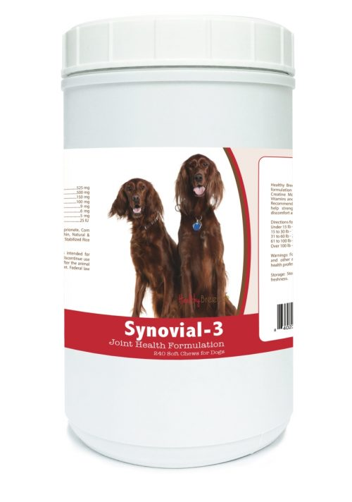 Healthy Breeds 840235109273 Irish Setter Synovial-3 Joint Health Formulation - 240 Count
