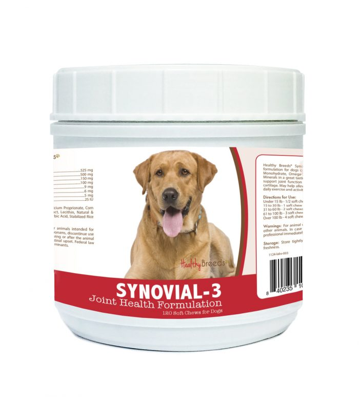 Healthy Breeds 840235109839 Labrador Retriever Synovial-3 Joint Health Formulation - 120 Count