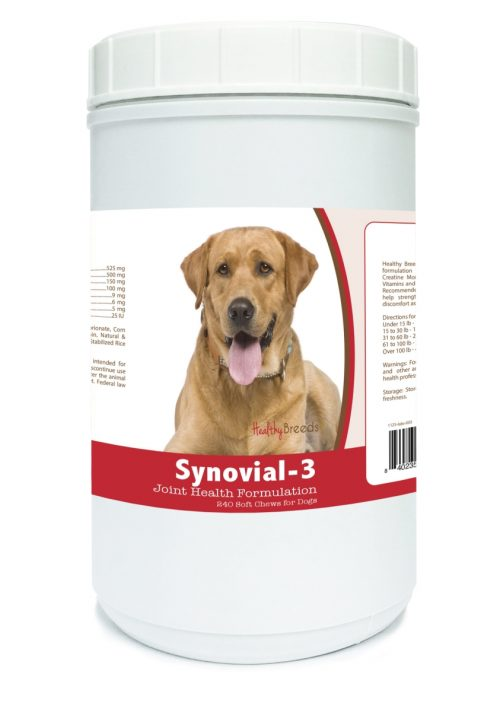 Healthy Breeds 840235109860 Labrador Retriever Synovial-3 Joint Health Formulation - 240 Count