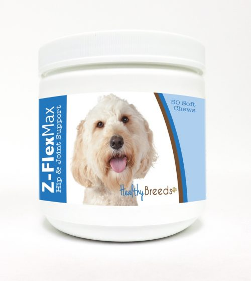 Healthy Breeds 840235110224 Labradoodle Z-Flex Max Hip & Joint Soft Chews - 50 Count