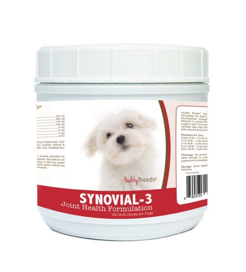 Healthy Breeds 840235110651 Maltese Synovial-3 Joint Health Formulation - 120 Count