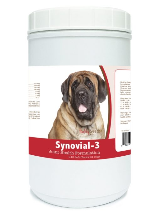Healthy Breeds 840235110828 Mastiff Synovial-3 Joint Health Formulation - 240 Count