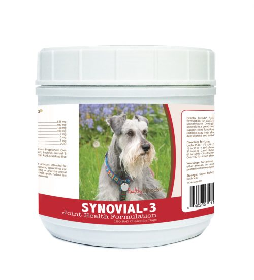 Healthy Breeds 840235111061 Miniature Schnauzer Synovial-3 Joint Health Formulation - 120 Count