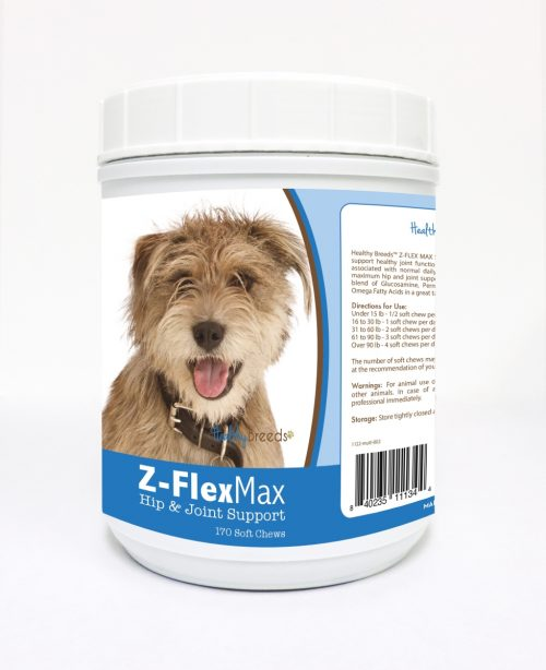 Healthy Breeds 840235111344 Z-Flex Max Hip & Joint Soft Chews - 170 Count